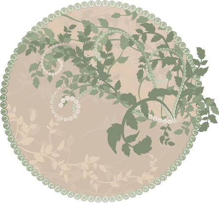 Earth Goddess wilderness nature frame. No Gradients. Vector