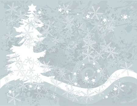 winter solstice: Christmas snowflake abstract background with grunge textures. No gradients.Christmas snowflake abstract background with grunge textures. No gradients.