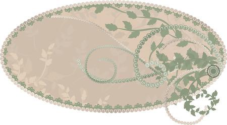 designelement: Earth Goddess wilderness nature frame. No Gradients.