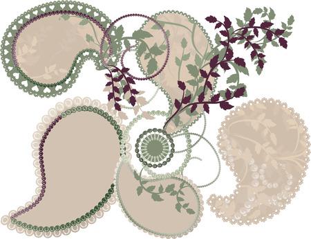 designelement: Earth Goddess wilderness nature Paisley Elements. Illustration