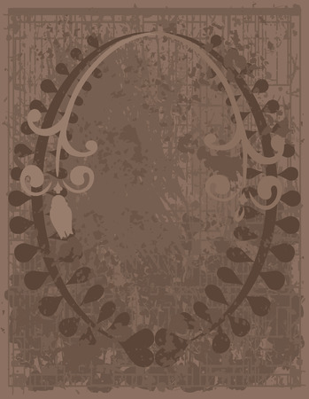 Abstract floral background with natural grunge textures. No Gradients.