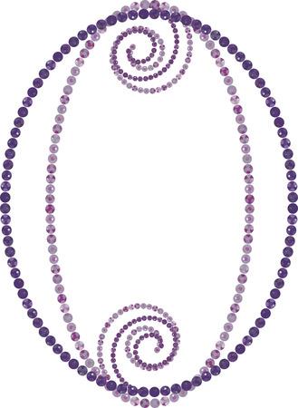 Gemstone frame romance design elements. No Gradients. Stock Vector - 2246140