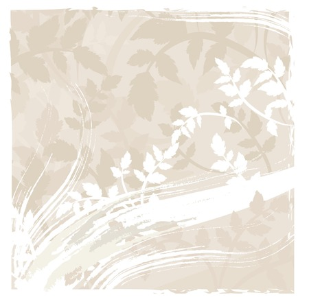 grunge textures: Abstract floral background with natural grunge textures. No Gradients.