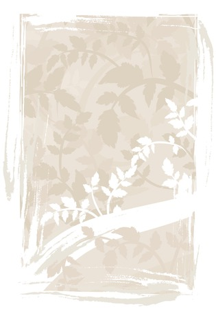 designelement: Abstract floral background with natural grunge textures. No Gradients.