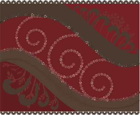 Cherry Chocolate. Abstracte achtergrond met gemstones. Stock Illustratie