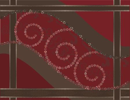 Cherry chocolade. Abstracte achtergrond met edelstenen. Stock Illustratie