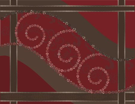 Cherry Chocolate. Abstract background with gemstones. Vector