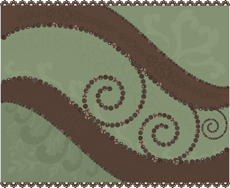 Chocolate Mint. Abstract background with gemstones.