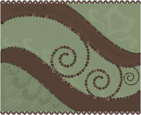 Chocolate Mint. Abstracte achtergrond met edelstenen. Stock Illustratie