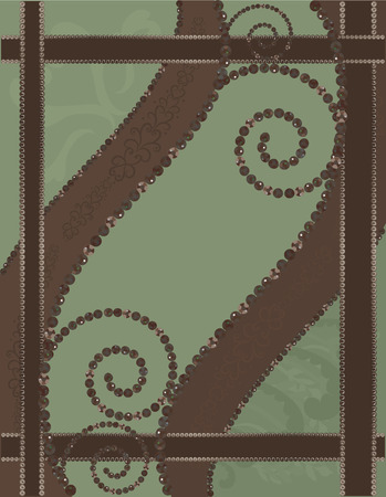 chocolate mint: Chocolate Mint. Abstract background with gemstones.