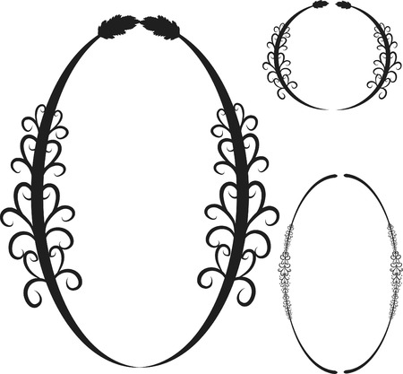 Retro stylized frame sets. Ilustrace