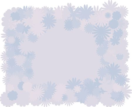 twists: Illustration of funky retro flowers as a border and background. File contains no gradients.