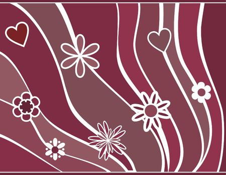 designelement: Abstract floral background. No Gradients.