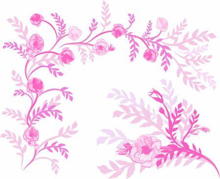 wildrose: Hand drawn Wild Rose design elements, file has no gradients.