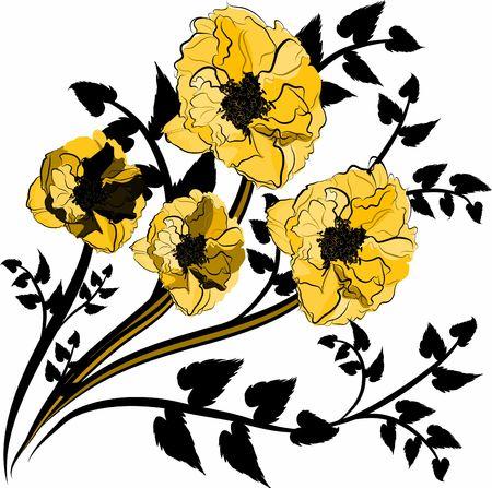 wildrose: Hand drawn Wild Rose design element, file has no gradients.