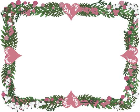 wildrose: Hand drawn Rose frame, file has no gradients.
