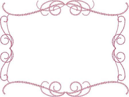 Gemstone frame romance design elements.