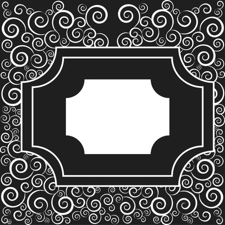designelement: Illustration of swirling strokes in an rectangle frame design element.