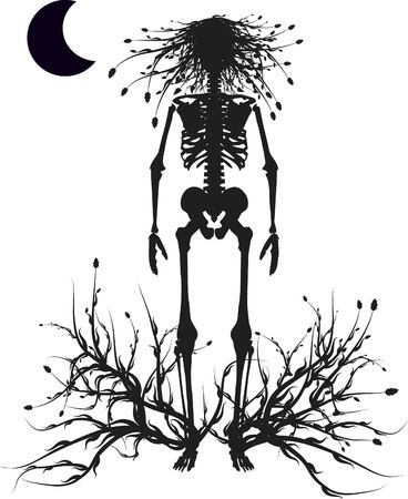 Unto my own roots, conceptual illustration. Day of the Dead illustration.