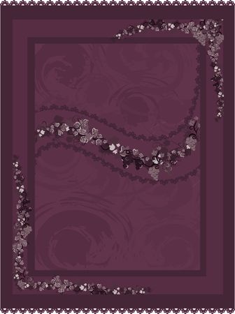 Illustration of grapes and ivy with lace in a frame design element.  File contains no gradients. Stock Illustration - 2330815