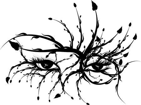 Illustration of the eye of nature. Stock Photo