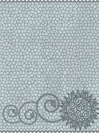 designelement: Abstract floral lace grunge background, no gradients. Stock Photo