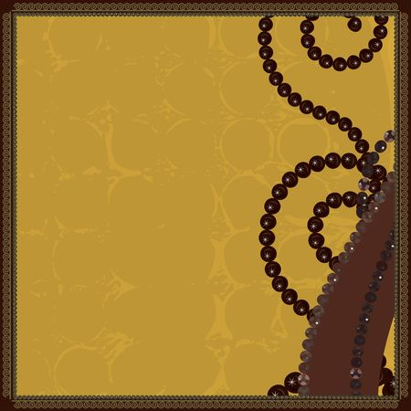 designelement: Abstract  background with pearls, gemstones and natural grunge textures. No Gradients.  Stock Photo