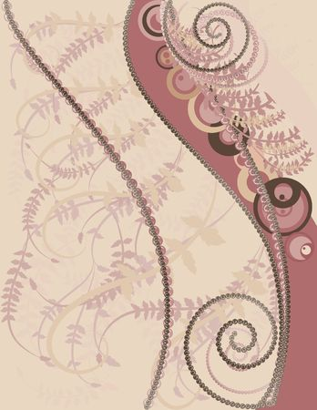 Abstract  background with pearls, gemstones and natural grunge textures. No Gradients.  Stock Photo