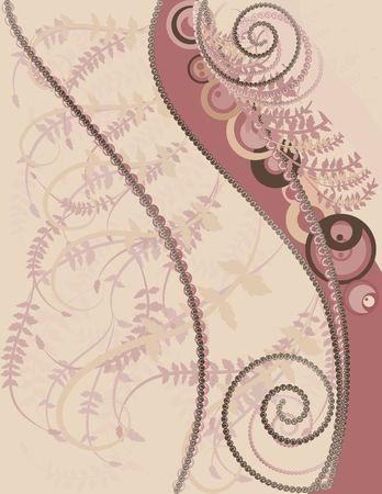 Abstracte achtergrond met parels, edelstenen en natuurlijke grunge textures. Nr. Kleurverlopen. Stockfoto