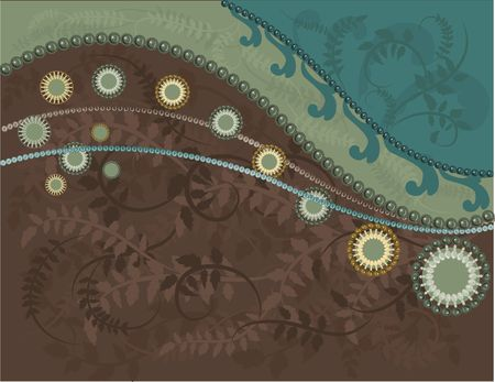 Abstract  background with pearls, and a natural grunge background. No Gradients.