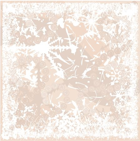 Illustration of funky swirling pearls in a twisting snowflake background giving the image a cheerful and warm feeling. File contains no gradients.  illustration
