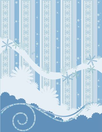 Christmas snowflake abstract background with grunge textures and ornaments.