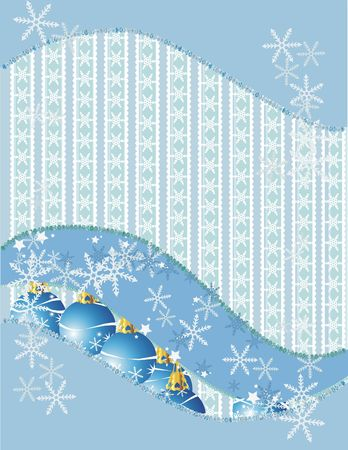 Christmas snowflake abstract background with grunge textures and ornaments.  Stock Photo - 2413955