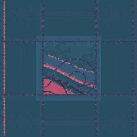 Abstract floral Grunge frame-element. Geen verlopen.  Stockfoto