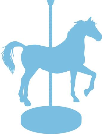 Carousel Horse is a silhouette of a carousel horse.