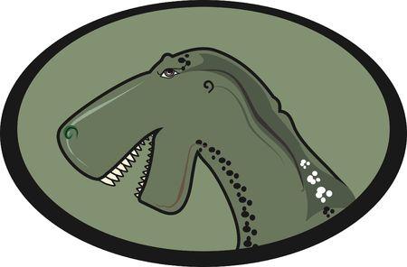 Dinosaur logo illustration. Stock Illustration - 2453857