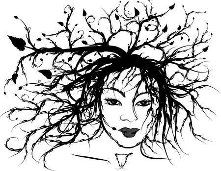 Conceptual self portrait of my natural self. photo