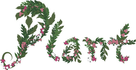 twists: Illustration of Plant text, with no gradients.  Illustration