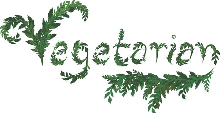 twists: Illustration of Vegetarian text, with no gradients.