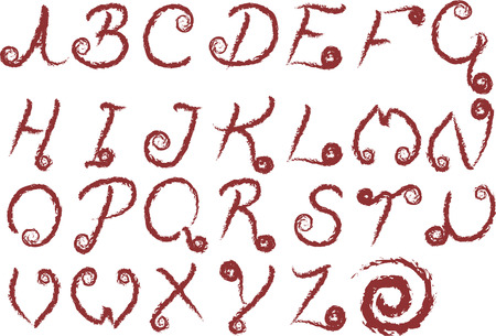 ビクセン グランジは元ビクセン フォント AZ 野生グランジ ストロークを使用しています。フォントの個々 の図形であり、簡単に編集しています。  イラスト・ベクター素材