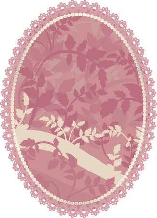 lattice frame: Abstract floral Grunge frame element. No Gradients.