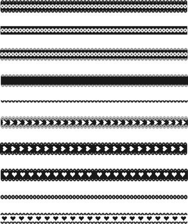 logo vector: Lace design elements. Illustration