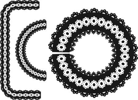 an element: Lace frame design element.