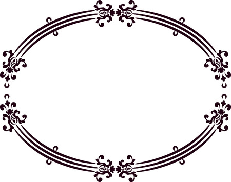 Abstract floral frame element. No Gradients, one color.  Ilustrace