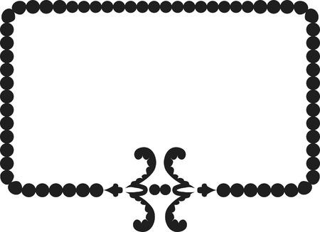 designelement: Abstract floral frame element. No Gradients, one color.  Illustration