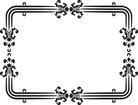 Abstract floral frame element. No Gradients, one color.  Illustration