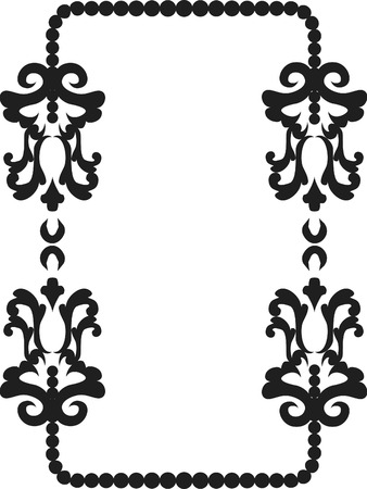 Abstract floral frame element. No Gradients, one color.  Vector