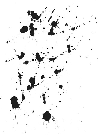 spatter: Thick paint spatter and drips made from real paint. File contains no gradients.