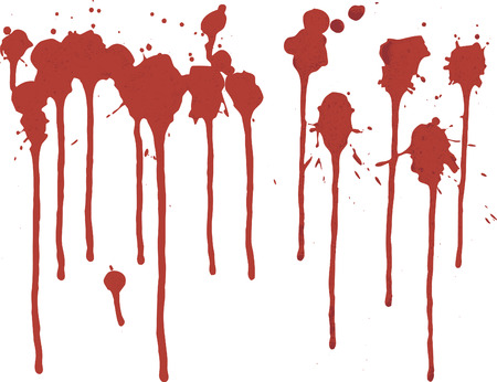 paint drop: Thick paint spatter and drips made from real paint. File contains no gradients.