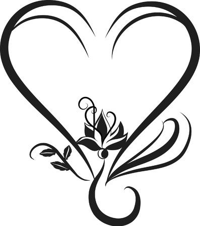 スワール: 蓮の花の様式化された図。ファイルにグラデーションが含まれていません。  イラスト・ベクター素材